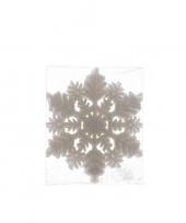 1x kerstversiering sneeuwvlok kersthanger wit 10 cm trend