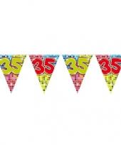 1x mini vlaggenlijn slinger verjaardag versiering 35 jaar trend
