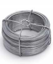 1x stuks ijzerdraad binddraad binddraden staal verzinkt 1 3 mm x 50 m trend