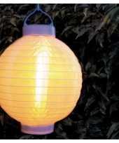 1x stuks luxe solar lampion lampionnen wit met realistisch vlameffect 20 cm trend