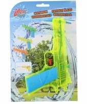 1x waterpistolen waterpistool geel van 18 cm kinderspeelgoed trend