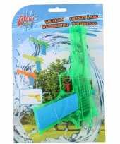 1x waterpistolen waterpistool groen van 18 cm kinderspeelgoed trend