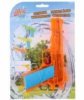 1x waterpistolen waterpistool oranje van 18 cm kinderspeelgoed trend