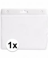 1x witte naamkaarthouder voor beurzen 11 2 x 58 cm trend