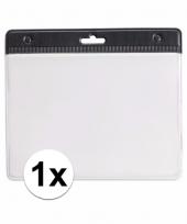 1x zwarte naamkaarthouder voor beurzen 11 2 x 58 cm trend