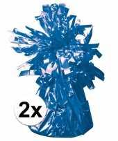 2 ballongewichten blauw 170 gr trend