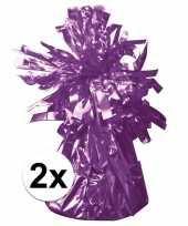 2 ballongewichten paars 170 gr trend