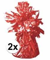 2 ballongewichten rood 170 gr trend
