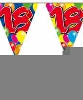 2 gekleurde vlaggenlijnen 18 jaar met sticker trend