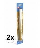 2 gouden bengaalse fakkels 36 cm 60 sec trend