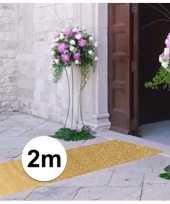 2 meter gouden glitter loper 1 meter breed trend