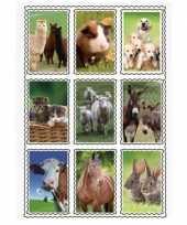 2 vellen van 3d kinder stickers boerderijdieren 9 stuks per vel trend