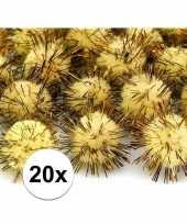 20 gele knutsel pompons 20 mm trend