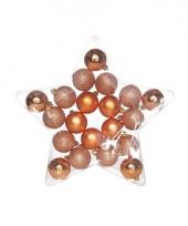 20 koper kleur kerstballen assortiment trend