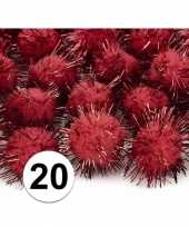 20 rode knutsel pompons 20 mm trend