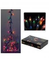 20 stuks mini kerstlampjes gekleurd trend