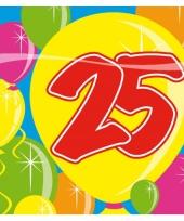 20 stuks servetten 25 jaar trend