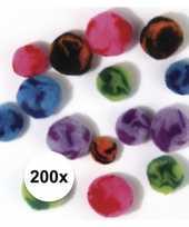 200x assortiment knutsel pompons trend