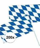 200x oktoberfest beieren zwaaivlaggen blauw wit trend