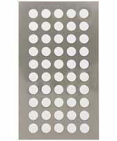 200x witte ronde sticker etiketten 8 mm trend