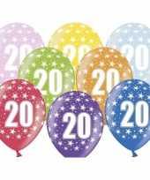 20e verjaardag ballonnen met sterretjes trend