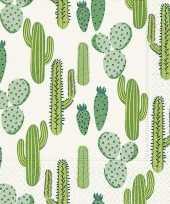 20x cactus thema servetten 33 x 33 cm trend