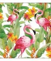 20x flamingo exotisch thema servetten 33 x 33 cm trend 10136541