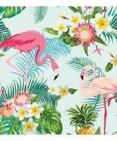 20x flamingo exotisch thema servetten 33 x 33 cm trend