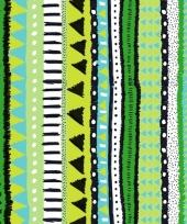20x groene servetten met motief 33 cm trend