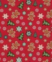 20x kerst dessin servetten rood 33 x 33 cm trend