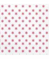 20x kerst servetten met rode sterren 33 cm trend