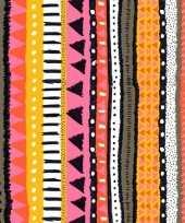 20x oranje roze servetten met motief 33 cm trend