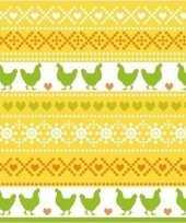 20x pasen servetten kippen geel oranje groen 33 x 33 cm trend