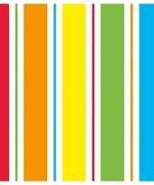 20x regenboog kleuren servetten 33 x 33 cm trend