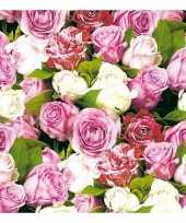 20x rozen bloemen voorjaar servetten 33 x 33 cm trend