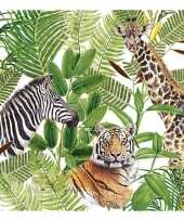 20x safari jungle thema servetten 33 x 33 cm trend