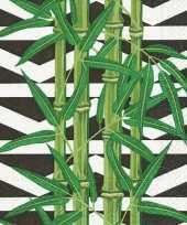 20x servetten botanische bamboe print 33 x 33 cm trend