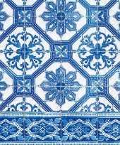 20x servetten portugees blauw tegelprint 33 x 33 cm trend