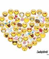 20x smileys hart servetten 33 x 33 cm trend