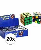 20x stuks voordelige kubus puzzels van 7 cm trend