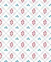 20x witte servetten met grafische stippenprint 33 x 33 cm trend