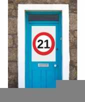 21 jaar verkeersbord deurposter a1 trend