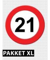 21 jarige verkeerbord decoratie pakket xl trend