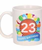 23e verjaardag cadeau beker mok 300 ml trend