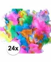 24 gekleurde pluimen trend