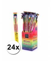 24 neon sterretjes 45 cm trend