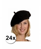 24 zwarte baretten in het zwart trend