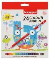 24x bruynzeel kleurpotloden voor kinderen trend