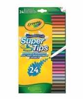 24x crayola viltstiften met superpunt voor kinderen trend