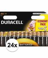 24x duracell aa batterijen alkaline trend